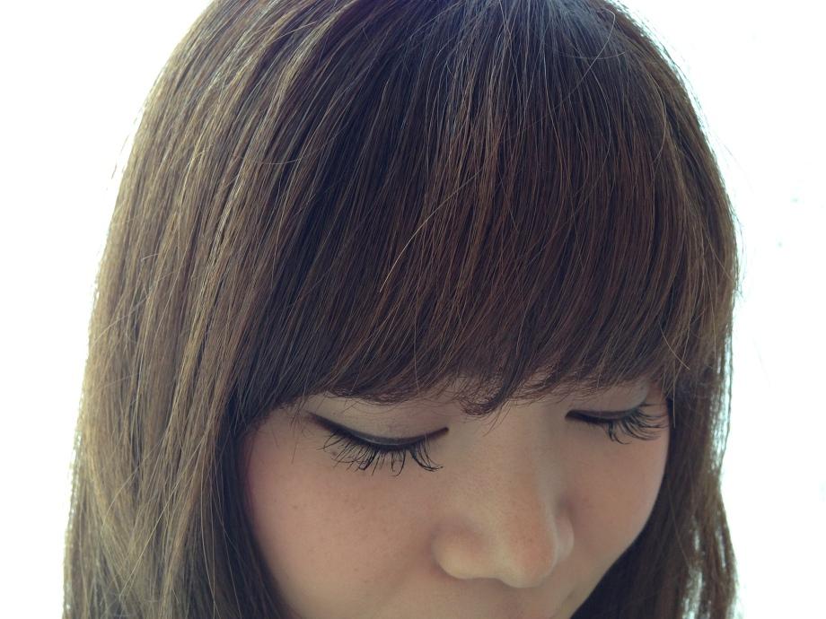 前髪パーマのサイドバング