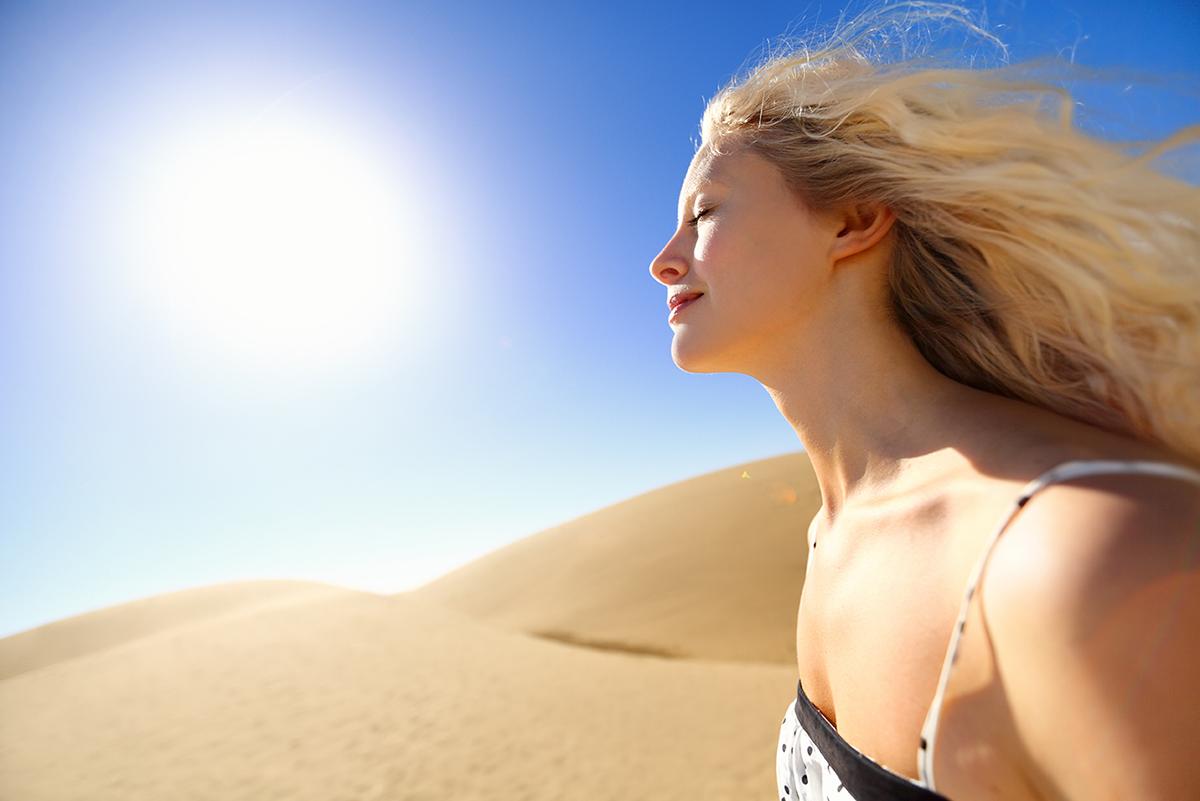 髪の毛が紫外線を浴びるとどうなるか?