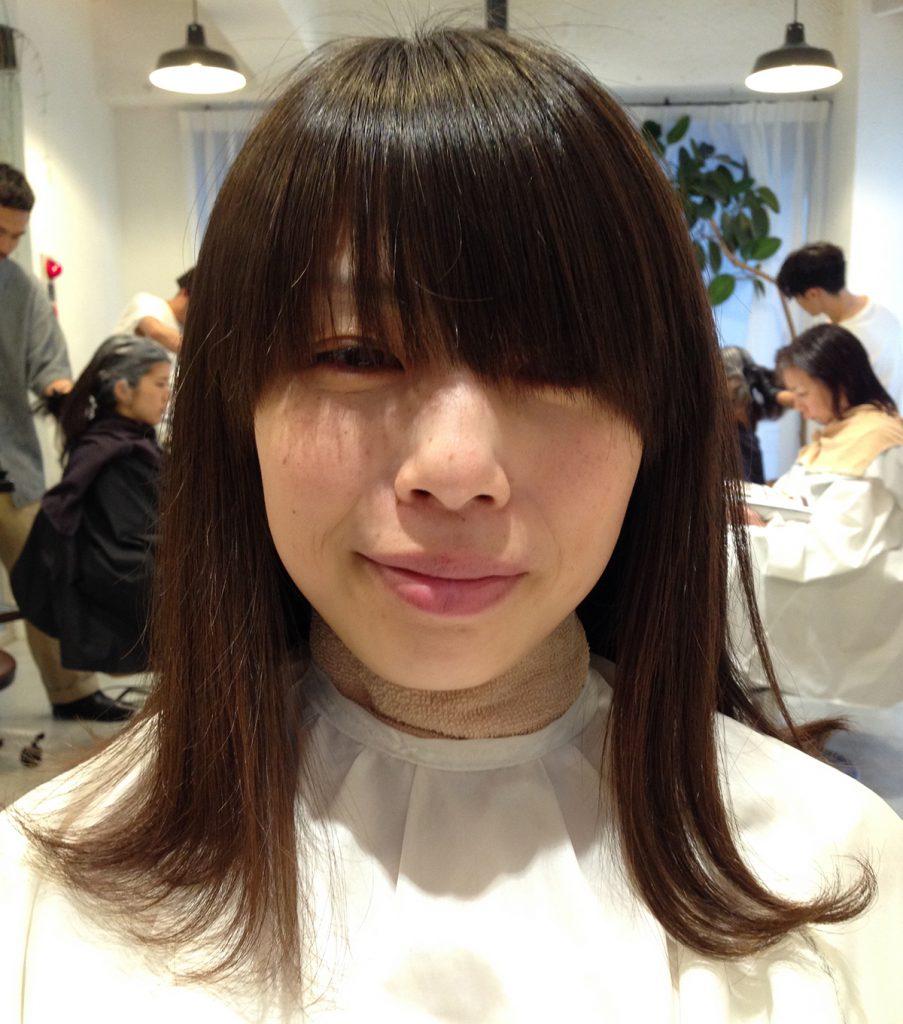 直毛前髪のASAMIさん