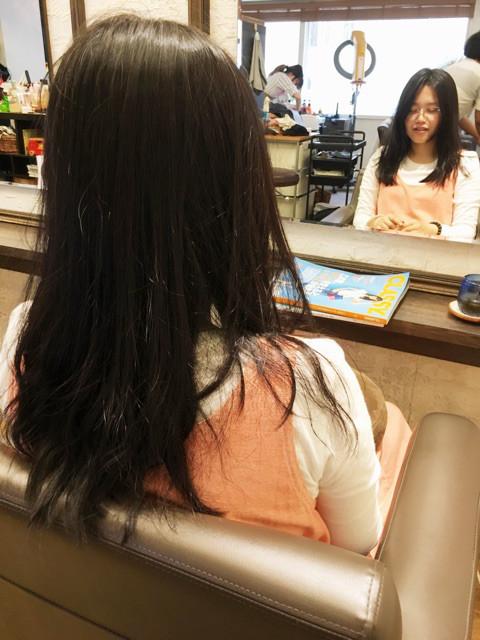 ケイコちゃんの髪ビフォア