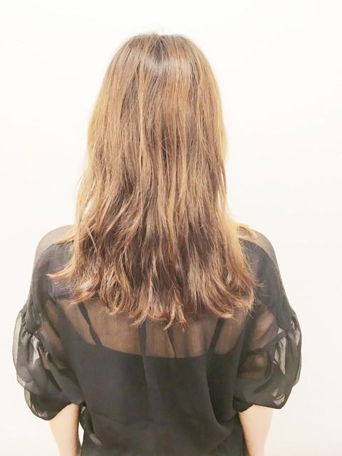 エリちゃんの後ろ髪