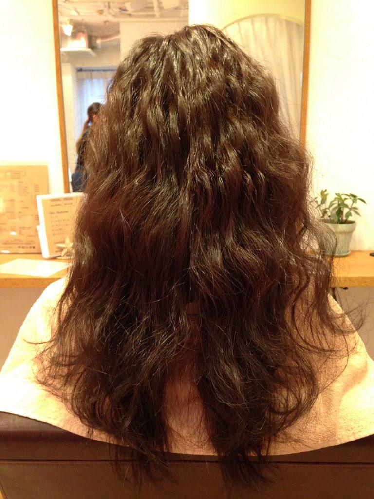 ベースの髪の状態