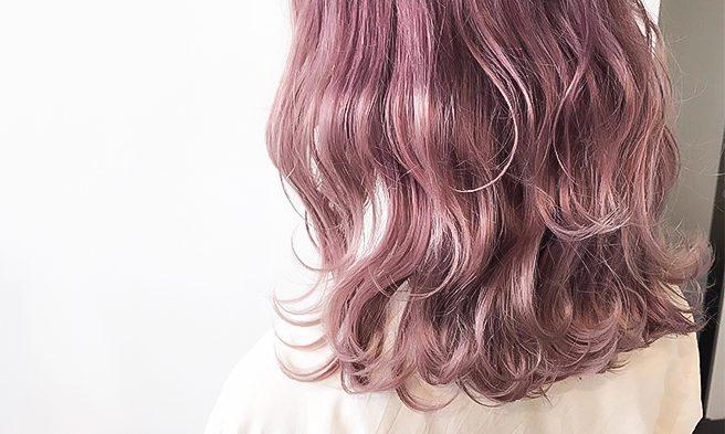 ピンク系派手カラー