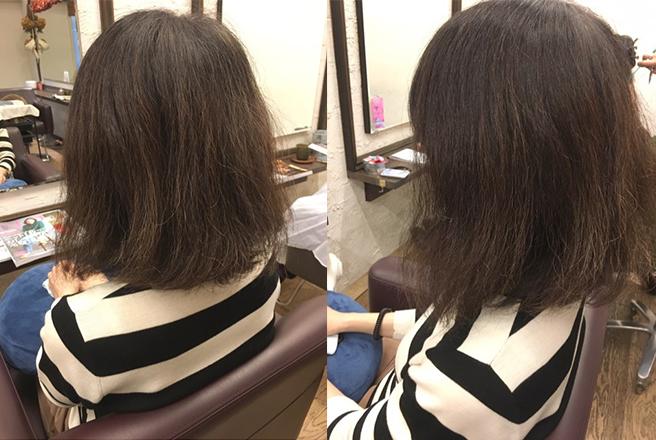 少しクセのあるミナさんの髪