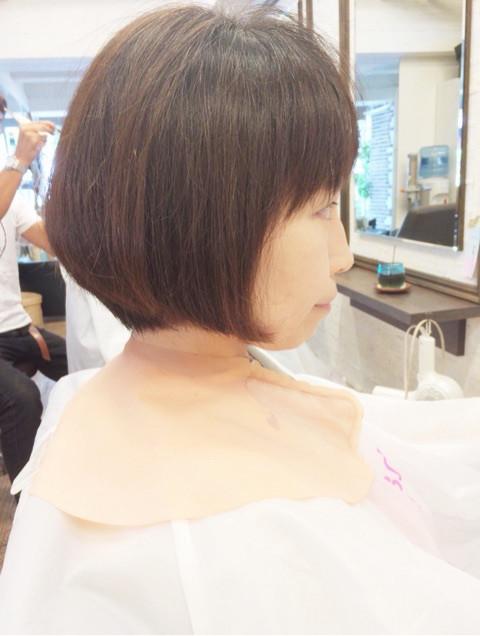 サチコさんのまとまった髪