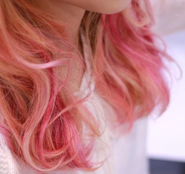 ハイライト×ピンク
