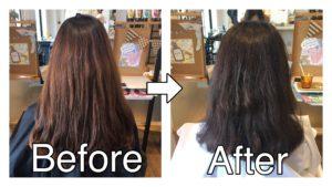 メラニン色素に近い色を補うヘアカラー