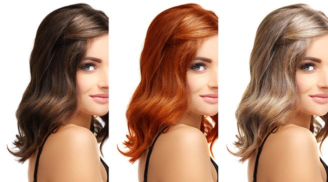肌の色に合わせたヘアカラー