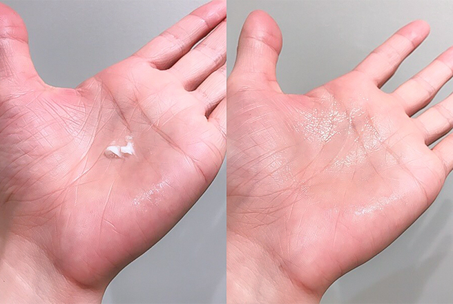 指で取りやすい固すぎない質感