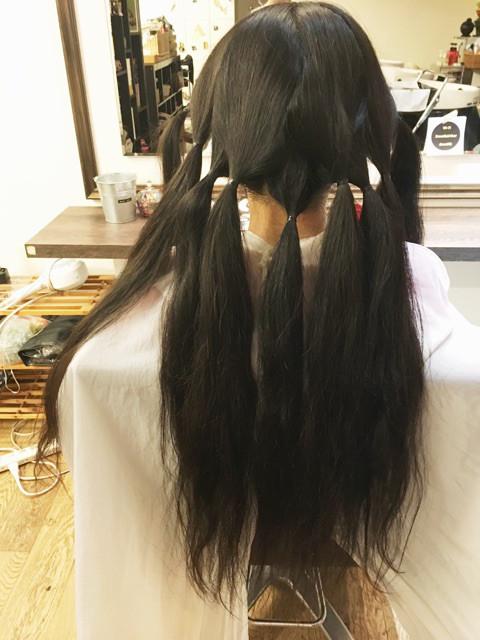 美容室嫌いで伸びた髪をドネーション