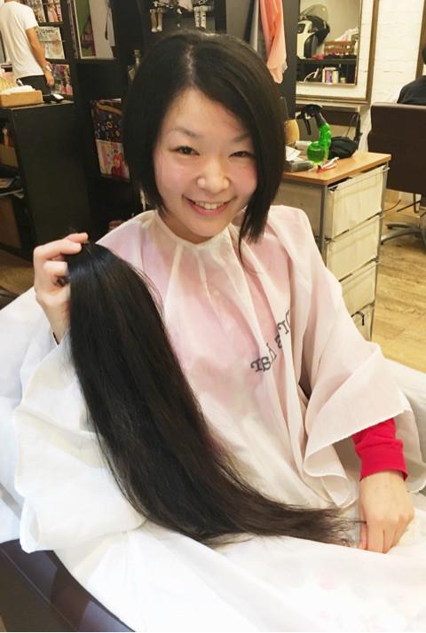 ドネーションする髪