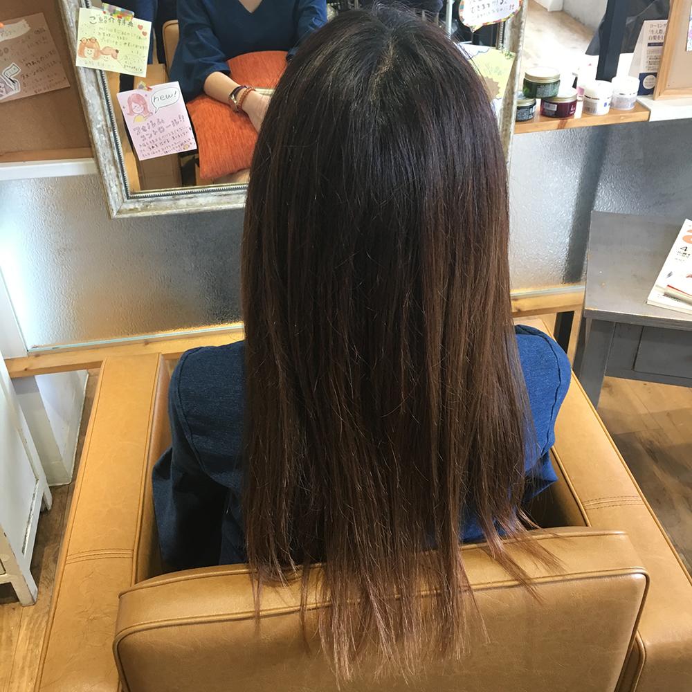 3月頃の髪の状態