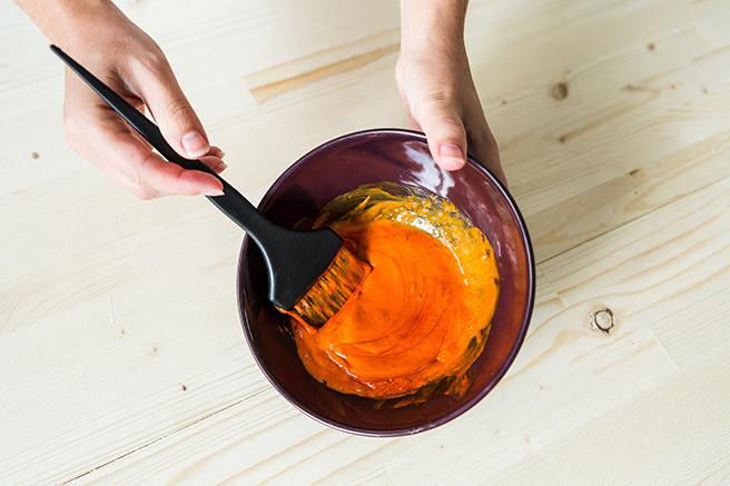 オレンジのヘアカラー