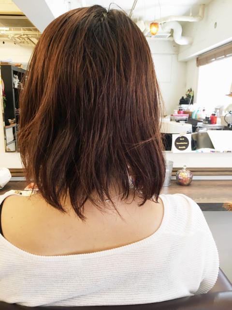 初来店のアキコさんの髪