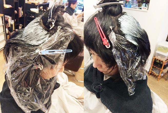 髪が広がる原因になっているエリアの根元だけに縮毛矯正