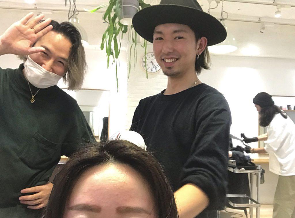 原宿 表参道 美容院 Lomalia 小林 イケメン美容師 グレバイカラー 春 髪色