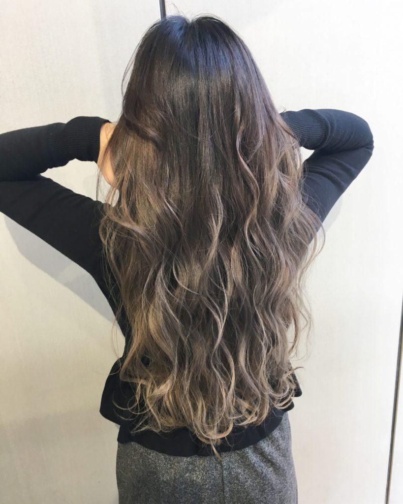 ALIVE 大石 外国人風カラー 地毛を染めない ハイライト グラデーションカラー