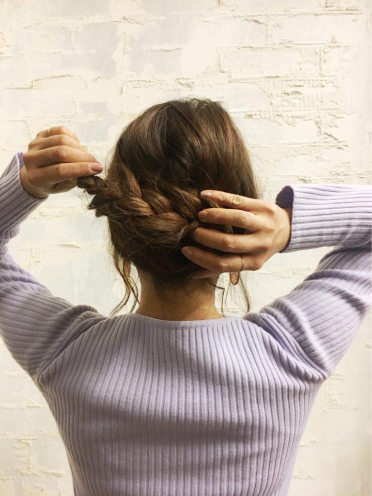 ヘアアレンジ 三つ編み まとめ髪アレンジ 簡単アレンジ ヘアアクセサリー