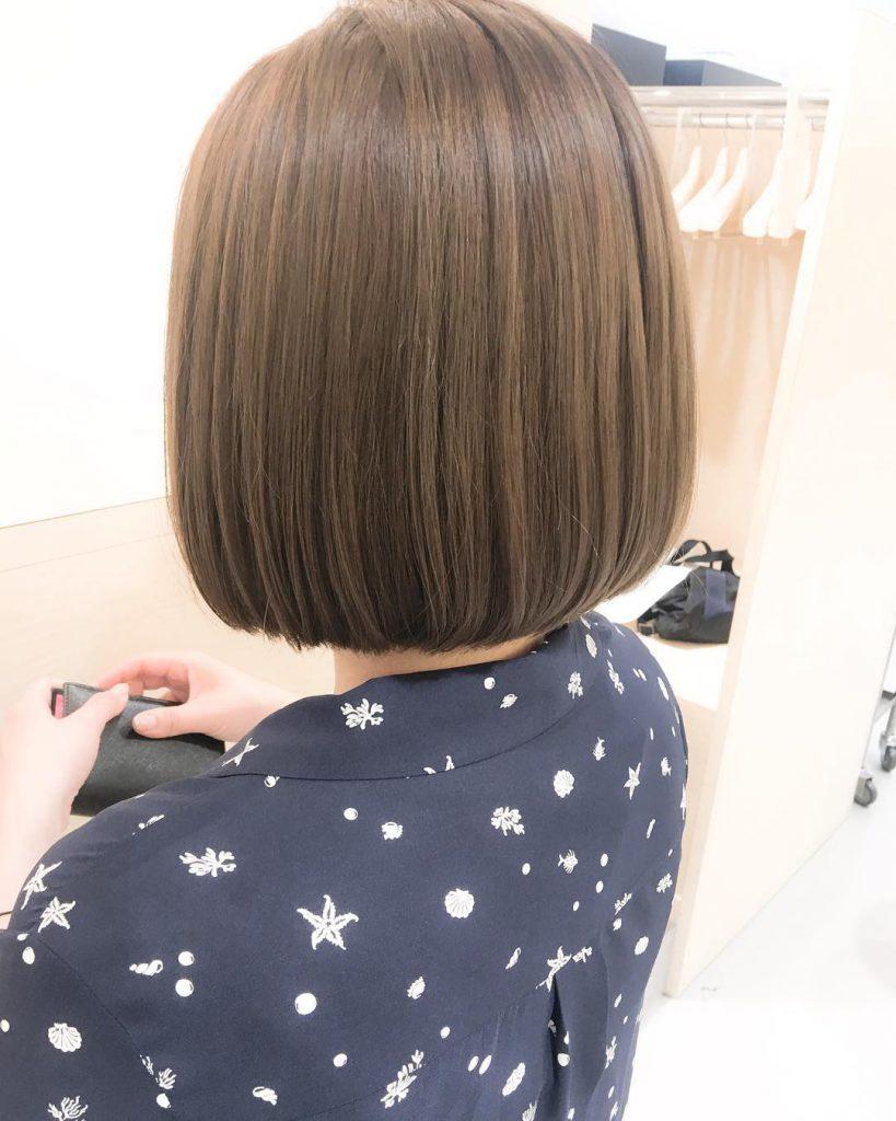 ミントアッシュ 表参道 美容院 ホリスティックカラー 髪にツヤ ミントベージュ ボブ