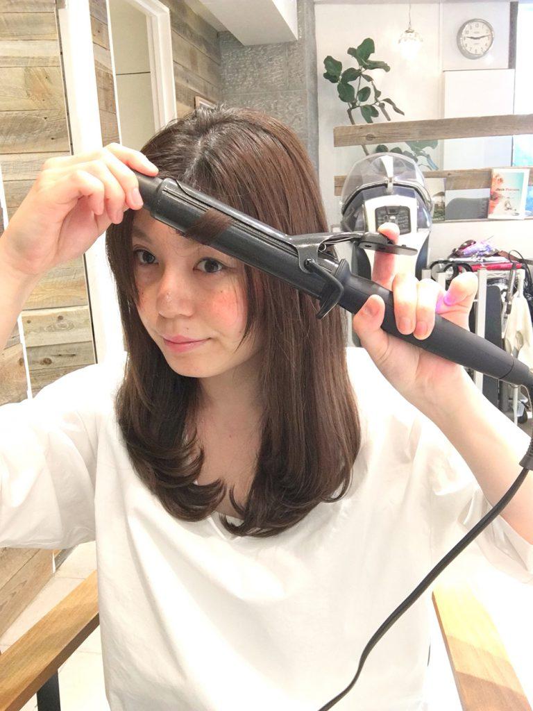 レイヤースタイル 巻き髪 ヘアアイロン 髪の巻き方 ヘアアイロンの使い方 ロングヘア