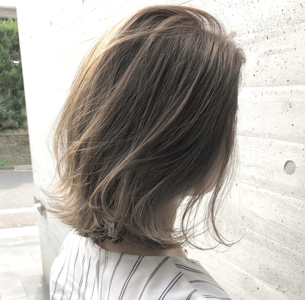 ALIVE 宮原 外国人風カラー ハイライト グラデーションカラー 夏 髪色