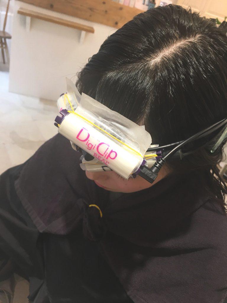 前髪パーマ デジタルパーマ