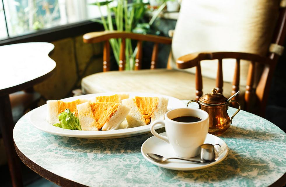 京都 喫茶マドラグ コロナの玉子サンド 渋谷