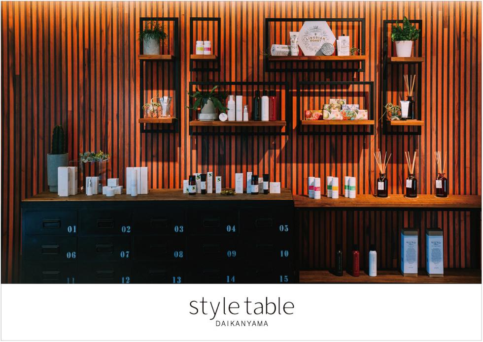 style table DAIKANYAMA 日本オーガニックコスメ協会 オーガニックコスメ