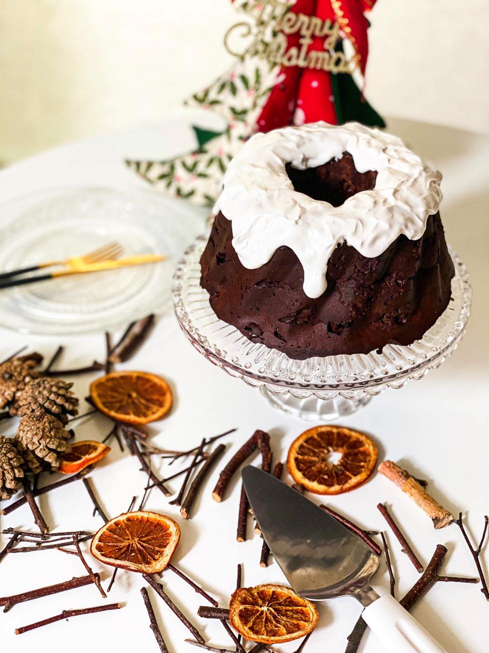 グルテンフリー ダークフルーツチョコレートケーキ レシピ